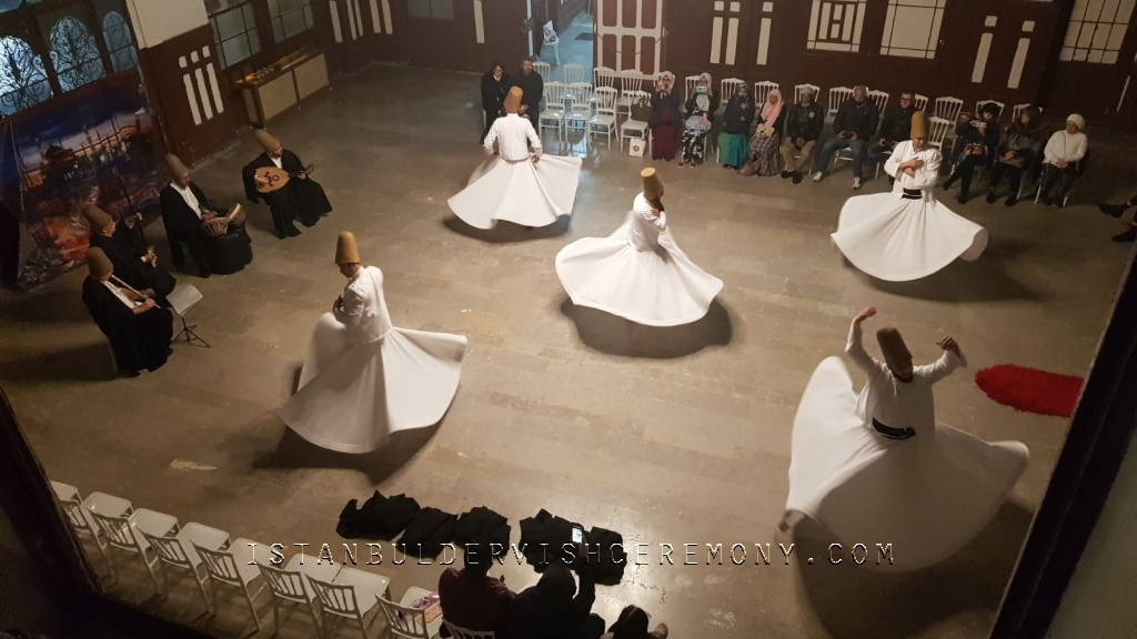 dervish show in sultanahmet sirkeci train station, dervish dance, sufism and dervish ceremony istanbul